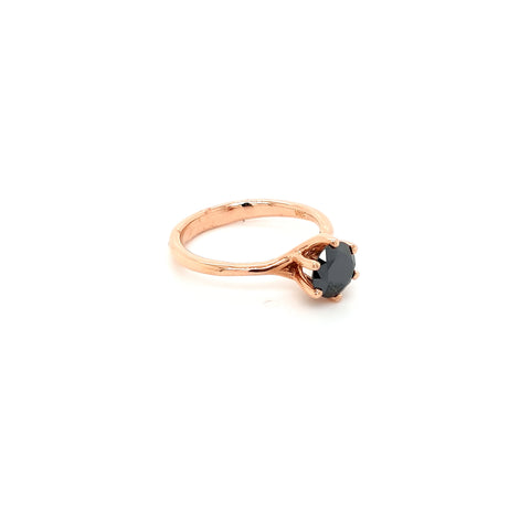 Black Moissanite ring