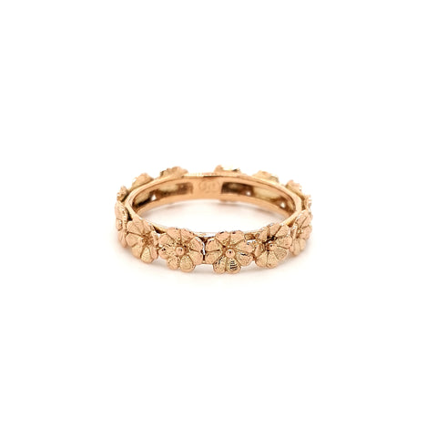 Rose Gold Stacker Antique Flowers