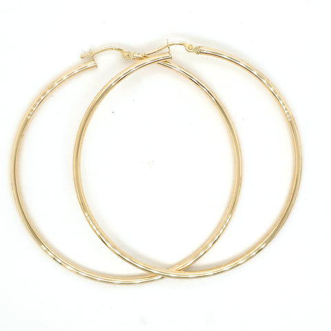 Large hoops - yellow gold