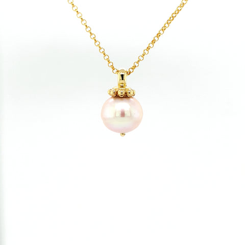 Pink Hue South Sea Pearl Pendant