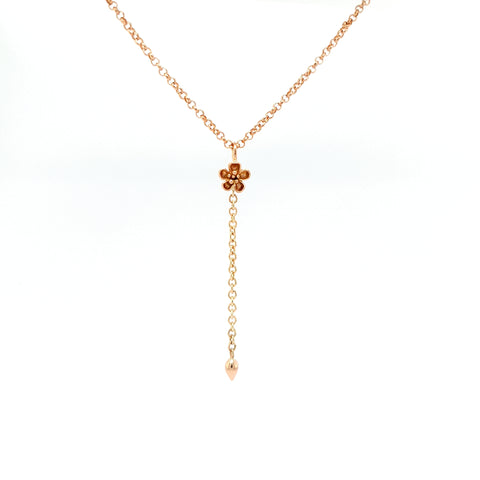 Forget Me Not Pendant - Rose Gold