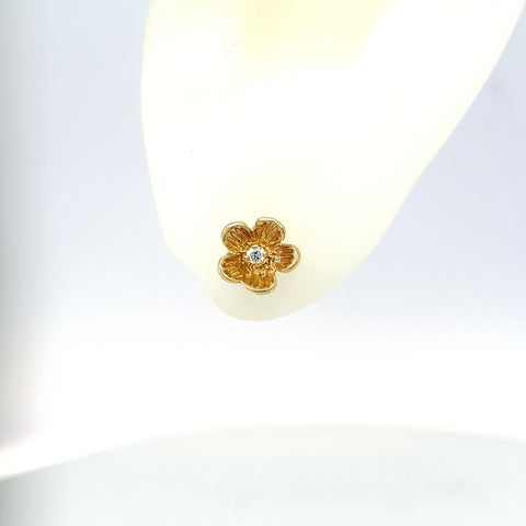 Forget Me Not Stud Earrings - Yellow Gold