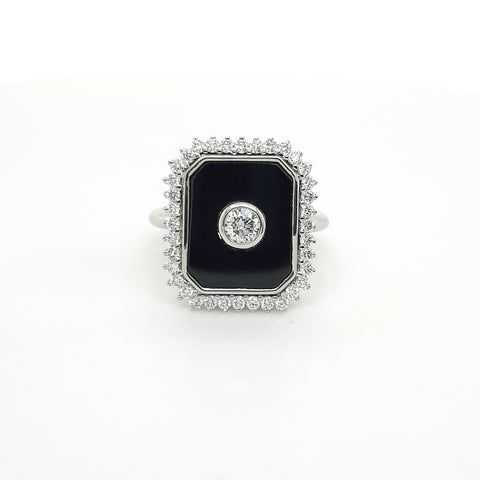 Diamond Onyx ring
