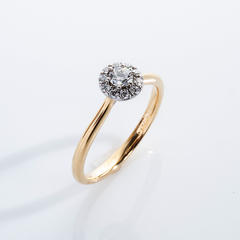 Diamond Halo Ring 001-01065
