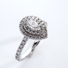 Pear Diamond Double Halo 001-01220