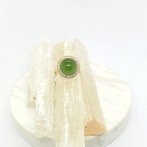 Aventurine Bubble Ring