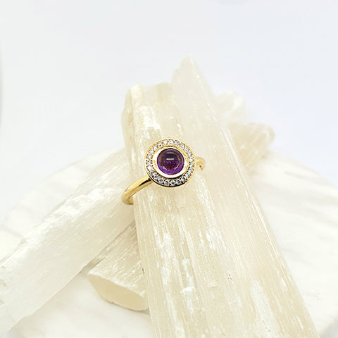 Amethyst Bubble Ring