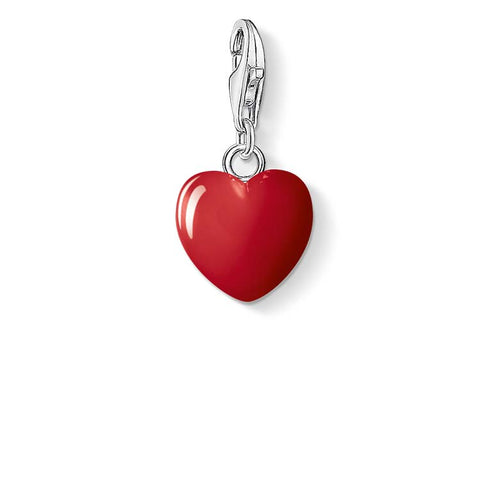 CHARM CLUB - Red Enamel Heart