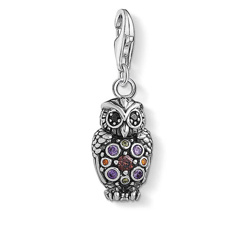 CHARM CLUB - Coloured CZ Owl