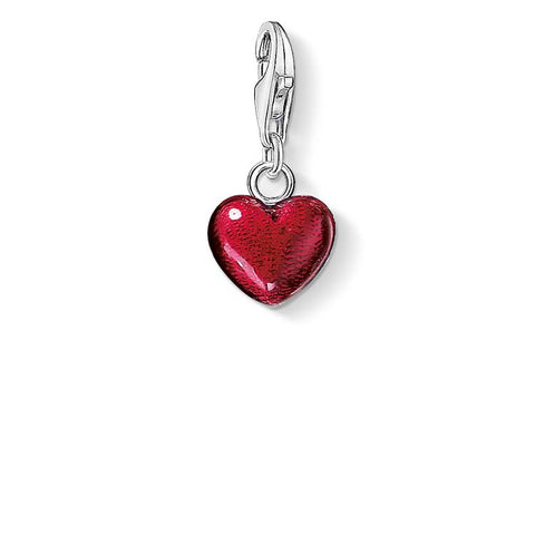CHARM PENDANT RED ENAMEL HEART