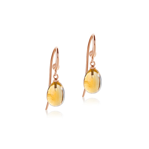 Citrine hook earrings