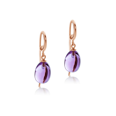 Amethyst drop hook earrings