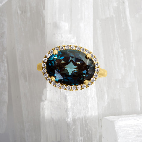 Oval London Blue Topaz