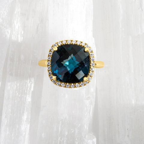Cushion Cut London Blue Topaz