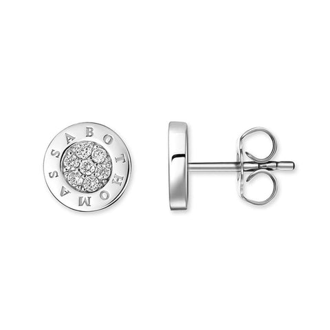 "EAR STUDS ""CLASSIC PAVÉ WHITE"" - Diamond"