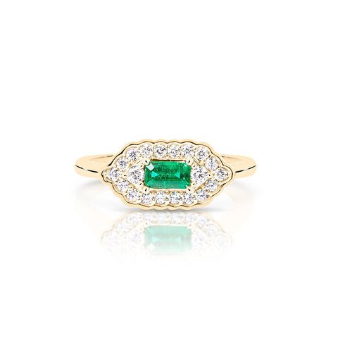 Emerald and diamond rind