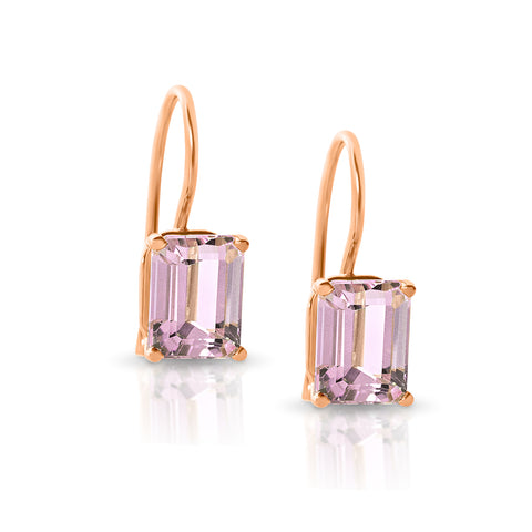 Kunzite hook earrings