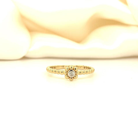 Diamond set flower ring