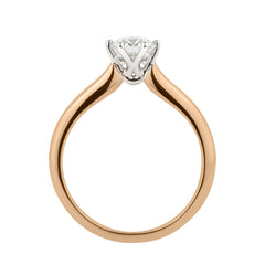 Rose gold diamond solitaire ring