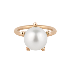 Sheriff Star Pearl Ring