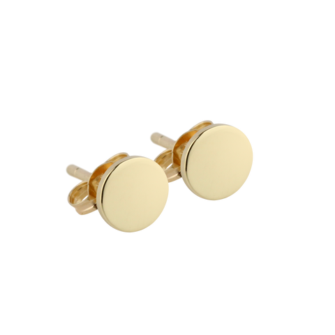Gold Disc Studs - Small