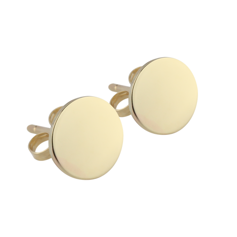 Gold Disc Studs - Medium