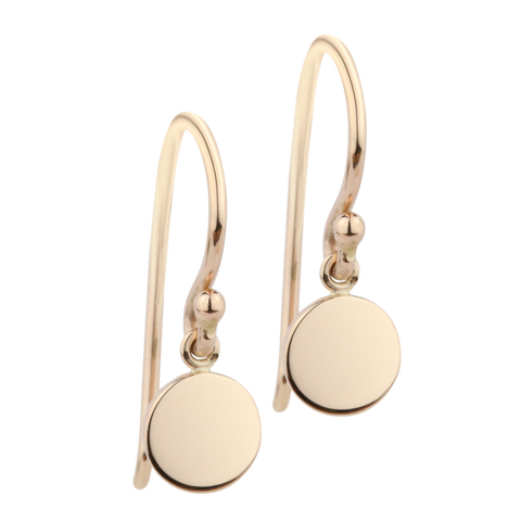 Round Hook Earrings - Small