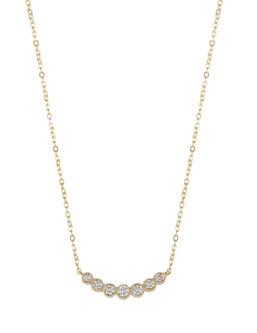 Diamond Curved Bar Necklet