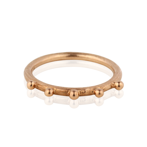 Zayliya Stackers in 9ct gold with 5 gold dots