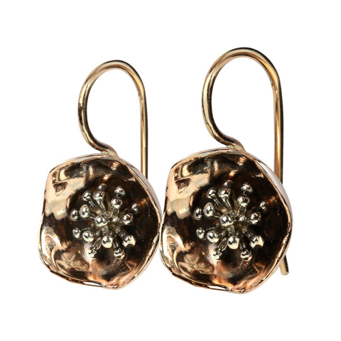 Bud cup earrings in 9ct gold