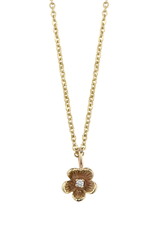 Diamond Forget Me Not Necklet