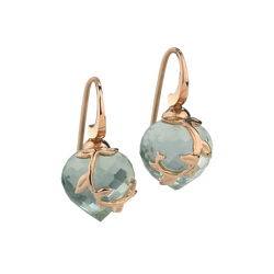 Aquamarine hook earrings