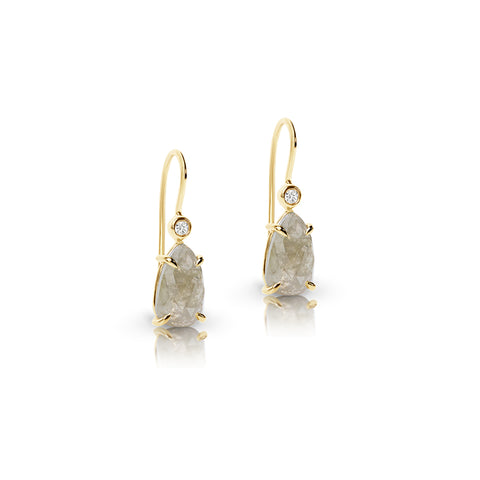 Natural Diamond hook earrings