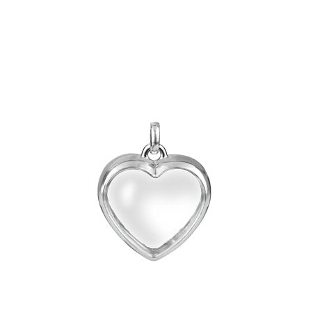 Stow Medium Heart Locket - Silver