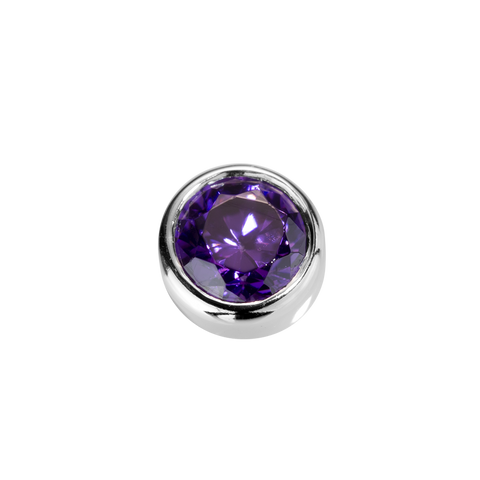 Virtue Charm Tanquility - Amethyst CZ