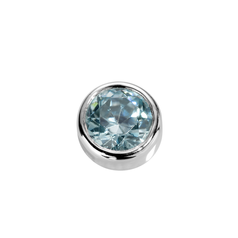 Virtue Charm Courage - Aquamarine CZ