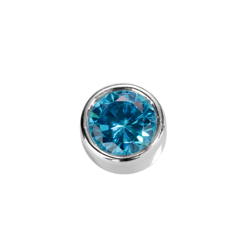 Virtue Charm Friendship - Blue Topaz CZ