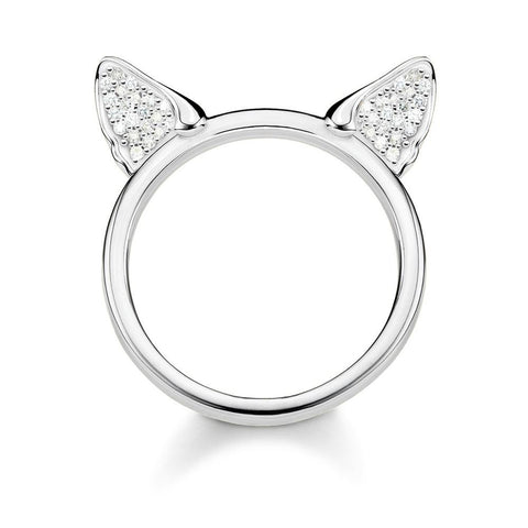 RING CAT'S EARS, SILVER - size 52