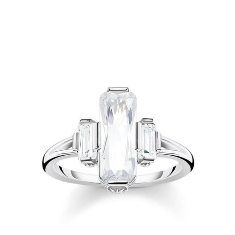 Magic Stones CZ ring - Size 54