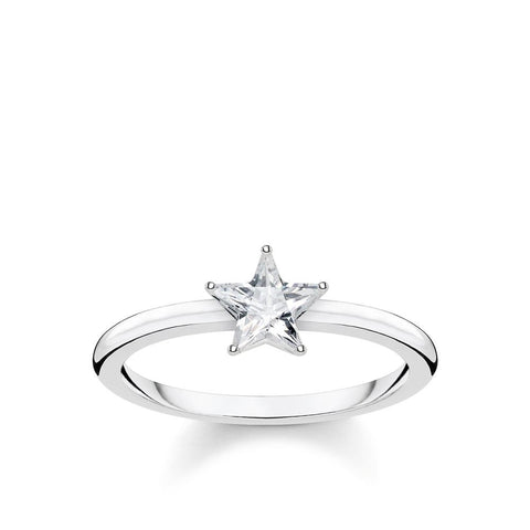 RING SPARKLING STAR, SILVER - Size 52