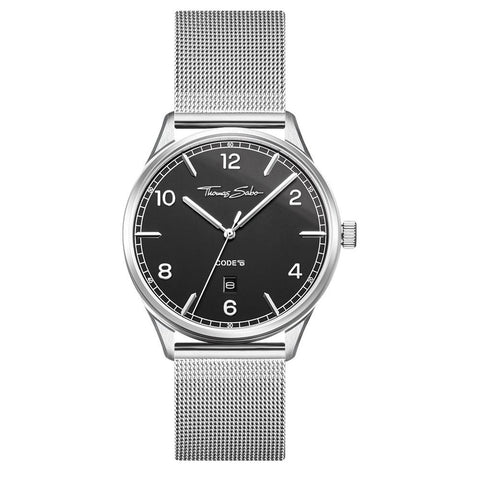 "UNISEX WATCH ""CODE TS SILVER BLACK"""