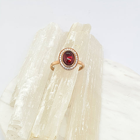 Garnet Bubble Ring