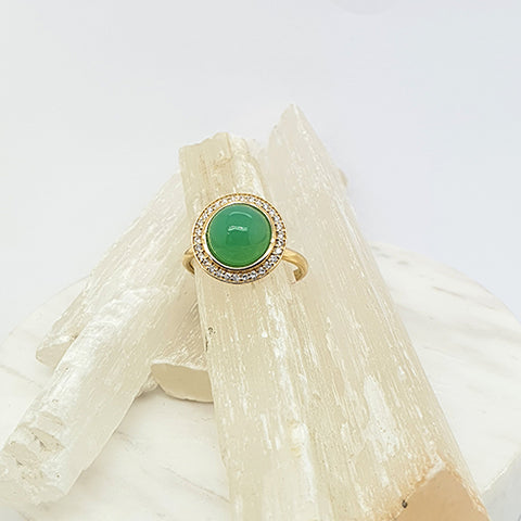 Chrysoprase Bubble Ring