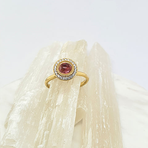 Pink Tourmaline Bubble Ring