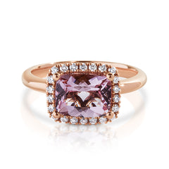 Morganite Diamond Ring