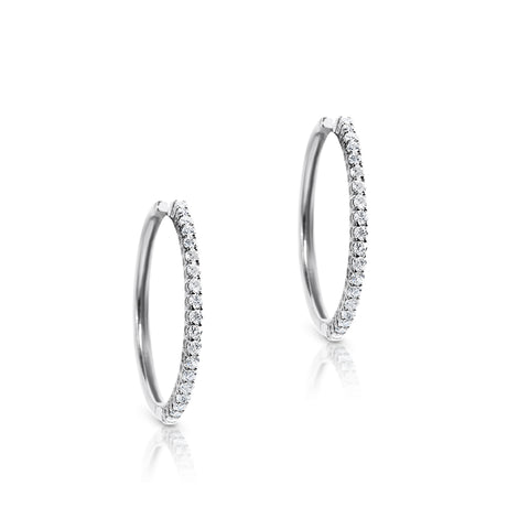 Diamond Hoops 25mm
