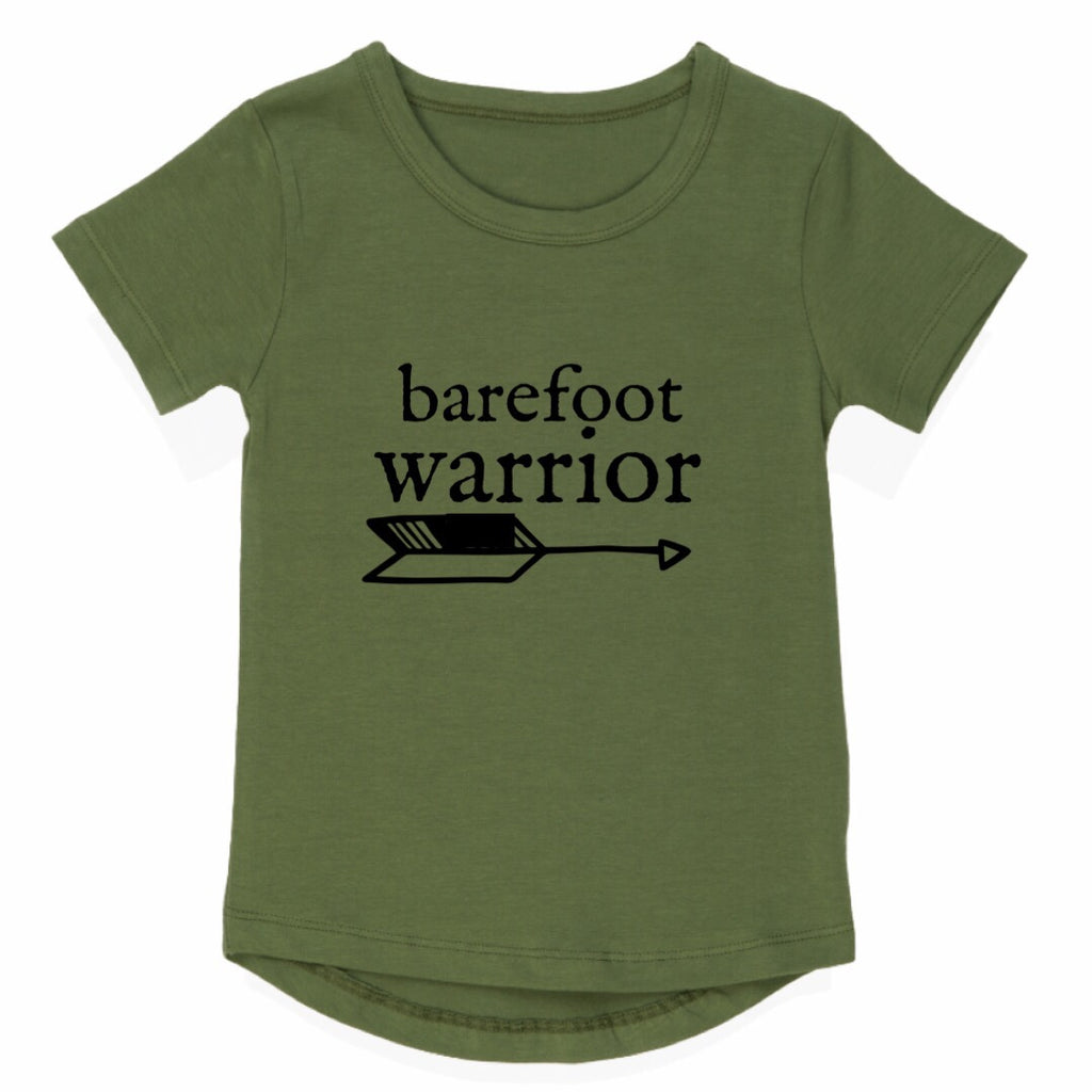 Barefoot Warrior Long Back Tee