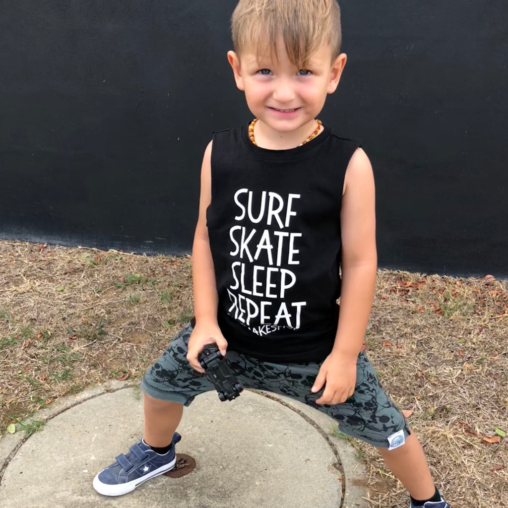 Surf, Skate, Sleep, Repeat tank