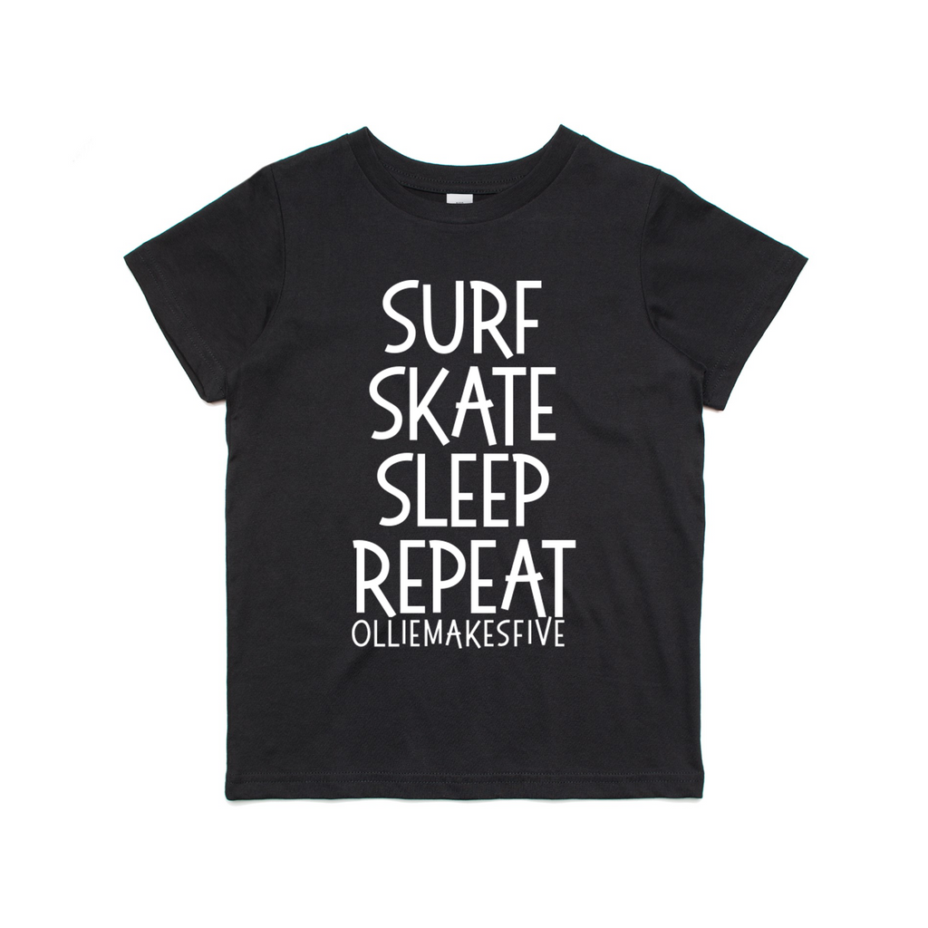 Surf, Skate, Sleep, Repeat t-shirt