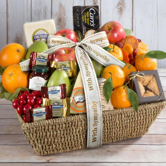 California Delectables Sympathy Fruit Basket - CFG4016S_20A